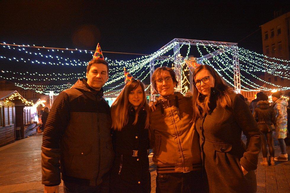 Silvestrovské oslavy příchodu Nového roku 2020 na náměstí T. G. Masaryka v Přerově