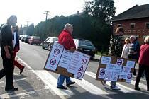Protestní akce v Prosenicích