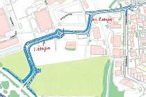 Areál přerovského výstaviště má protnout nová silnice, která propojí Lipnickou silnici s Kopaninami.