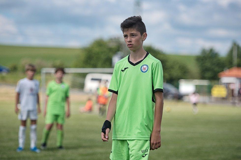 Žákovský memoriál v Želatovicích. FC Slovácko - 1. FC Viktorie Přerov (v zeleném)