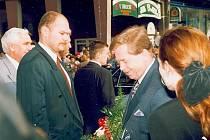 Archivní snímky z návštěvy Václava Havla v Přerově, která se uskutečnila v březnu 1996