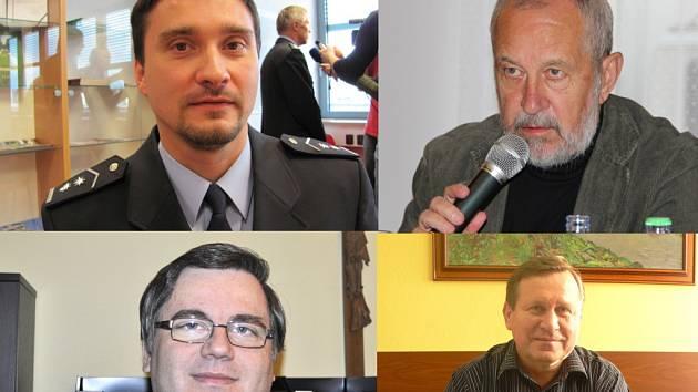 Zleva nahoře: Martin Lebduška, Vladimír Puchalský. Zleva dole: Pavel Hofírek, Eduard Sohlich.
