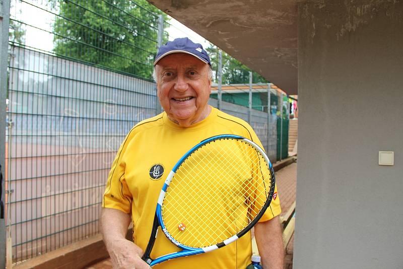 Felix Slováček. Tenisová akademie Petra Huťky Acuna cup v Přerově. Červen 2021
