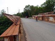 Mosty nad železniční tratí v Dluhonské ulici v Přerově