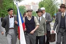 Před desíti lety si lidé připomněli Přerovské povstání rekonstrukcí, která se konala v Želatovské ulici.