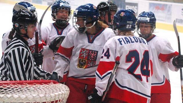 Ženská hokejová reprezentace Česka v Přerově. Ilustrační foto
