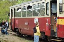 Nostalgický vlak na zrušené trati Tovačov - Kojetín