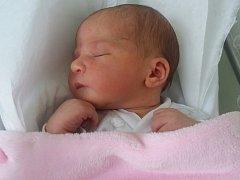 Veronika Radová, Přerov, narozena dne 9. července v Přerově, míra 49 cm, váha 3614 g