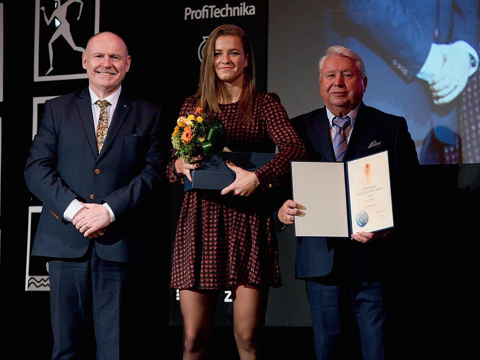 Vyhlášení Sportovce Olomouckého kraje za rok 2019 v Městském domě v Přerově.   Karolína Muchová vítězka
