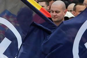 Prvomájový průvod nacionalistů a pravicových radikálů Přerovem