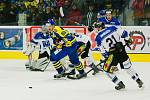 Přerovští hokejisté (v modrém) proti Havířovu.