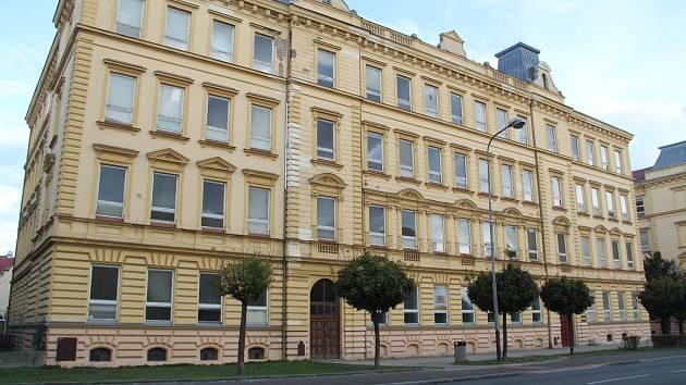 Historická budova v Palackého ulici v Přerově, ve které sídlila soukromá škola.