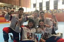 Přerovští junioři slavili zlato s českou reprezentací na World Roller Games 2019 v Barceloně. Daniel Indrák (vpravo dole).