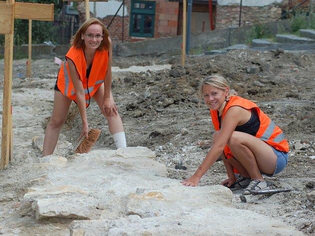 Archeologické vykopávky v ulici Na Marku. Ilustrační foto