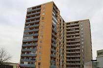 Třináctipatrové paneláky v ulici Budovatelů v Přerově