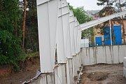 Stavba nové tenisové haly v Přerově - květen 2018