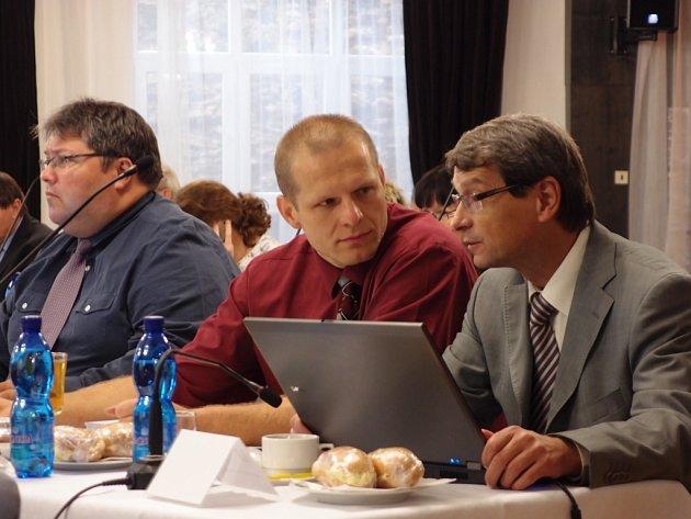 Přerovský zastupitel Emil Krestýn - uprostřed