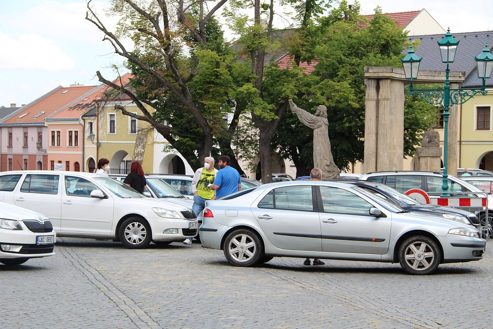 Očkovací centrum v klubu Teplo v Přerově, červen 2021