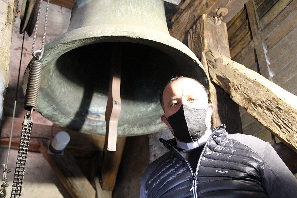 Zvonice v kostele sv. Vavřince v Přerově
