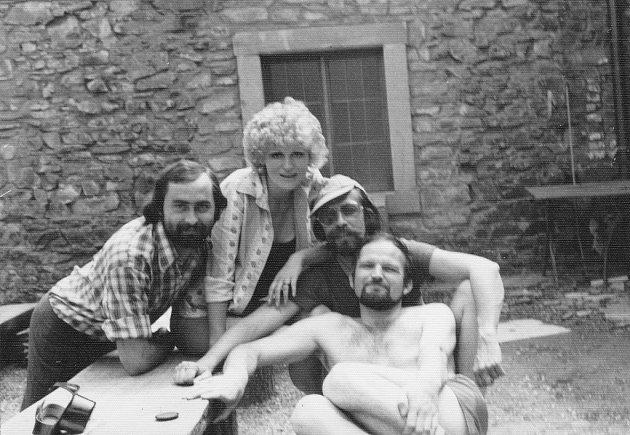 Snímek ze sedmdesátých let, kdy začala Marcela Kleckerová pracovat na Helfštýně.