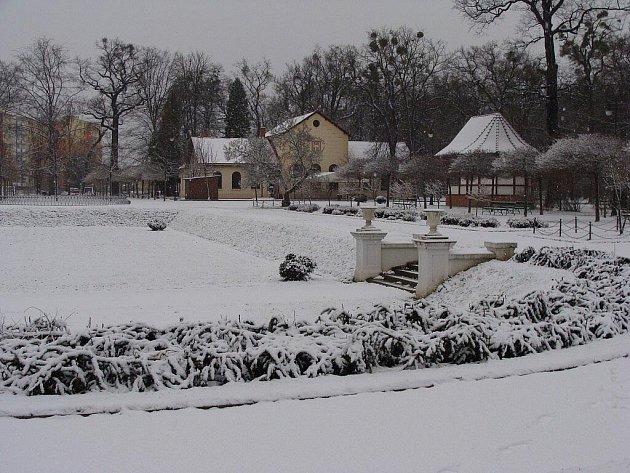 Zimní idylka v parku Michalov v Přerově - 29. 11. 2010