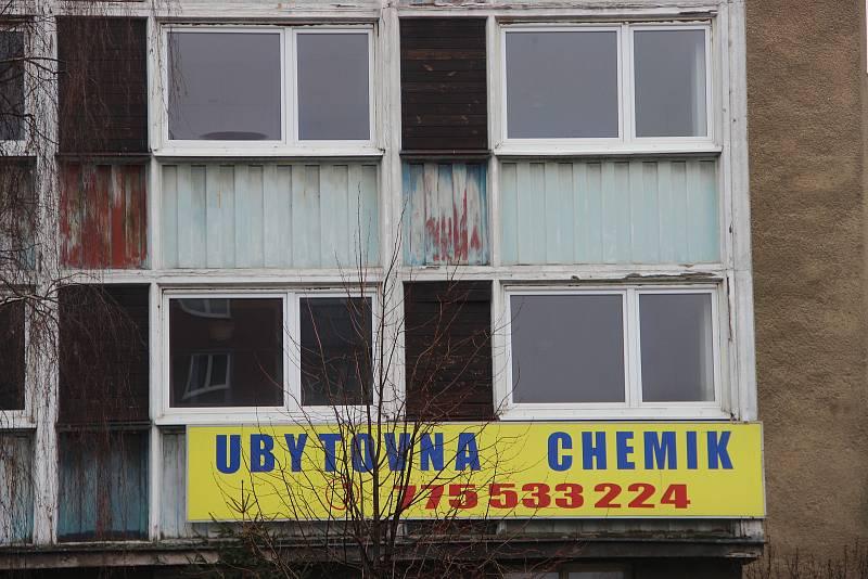 Ubytovna Chemik v Přerově je prázdná. Provozovatel předal objekt městu.