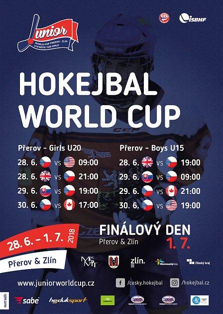 Přerov se stane dějištěm Světového poháru v juniorském hokejbale