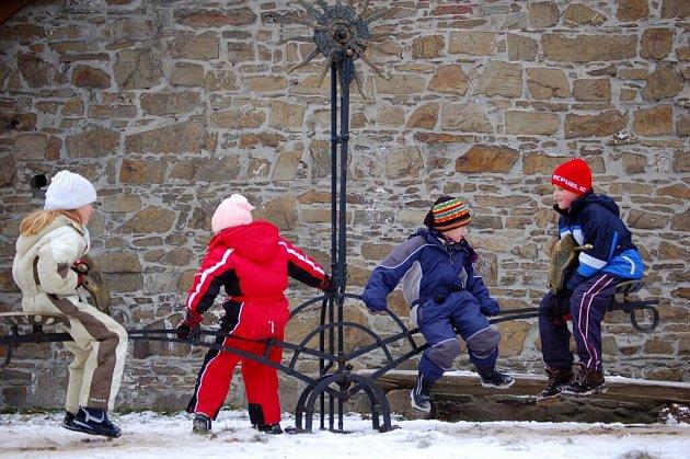Novoroční výšlap na Helfštýn. Leden 2008