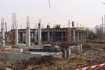 Stavba centrálního dispečerského pracoviště u Mádrova podjezdu v Přerově