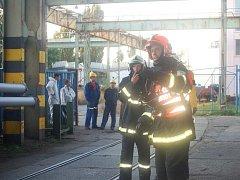 Požár v areálu lakovny Přerovských strojíren