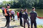 Cvičení složek integrovaného záchranného systému Bečva 2015 nad jezem Osek nad Bečvou