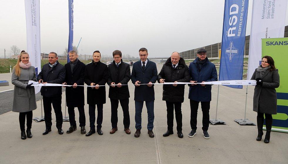 Otevření nového úseku dálnice D1 Lipník - Přerov, 12. prosince 2019