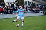 Fotbalisté Kozlovic doma remizovali s Hranicemi (v modrém) 1:1.