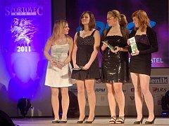 Sportovní hvězda Přerovského deníku za rok 2011: Párová čtyřka starších žaček Veslařského klubu Přerov
