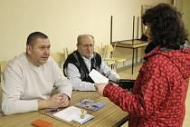 Volby zastupitelů místních částí Přerova. Volební místnost v Předmostí