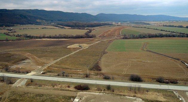 Stavba dálnice D1 uTrnávky