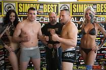 Přerovský zápasník Ondřej Srubek (vlevo) proti Ondřeji Šudovi
