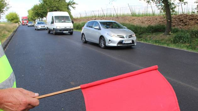 Oprava silnice mezi Přerovem a Olomoucí