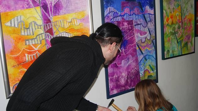 Výstava malířky Dany Hlobilové v Muzeu Komenského v Přerově