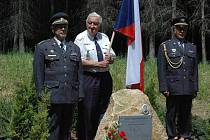 Odhalení památníku americkému letci Davidu Milesovi