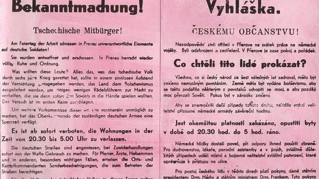 Vyhláška vrchního velitelství pancéřové armády o nočním zákazu vycházení