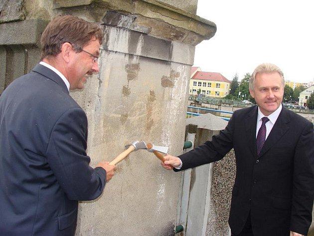 Slavnostní zahájení stavby nového Tyršova mostu v Přerově