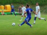 Přátelské utkání mezi FK Troubky a SK Sigma Olomouc.