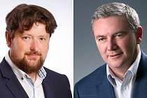 Soud se zabývá námitkou přerovské občanky, že dva zastupitelé - Petr Kouba (ODS) (vlevo) a Antonín Prachař (STAN) (vpravo) - mají trvalý pobyt v Přerově, ale fakticky žijí jinde.