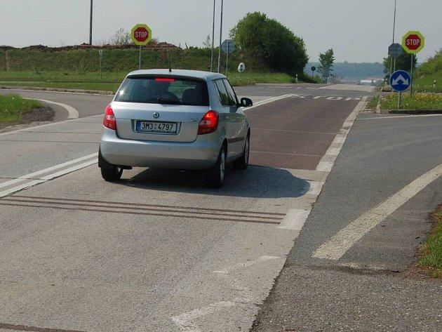 Křižovatka Na Horecku u Lipníka nad Bečvou