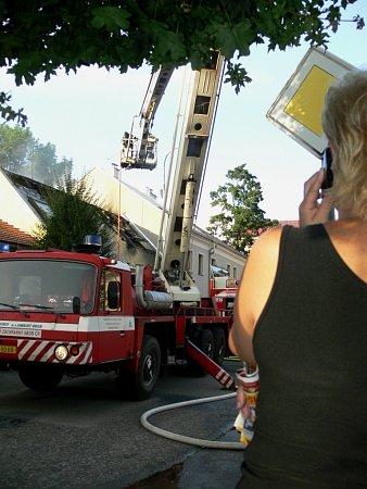 Požár budovy vPalackého ulici vLipníku nad Bečvou
