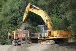 Těžba štěrkopísků. Ilustrační foto