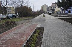 Cyklostezka v ulici Velká Dlážka v Přerově má vadu na kráse. Chybí jí úsek, který se městu nepodařilo vykoupit.