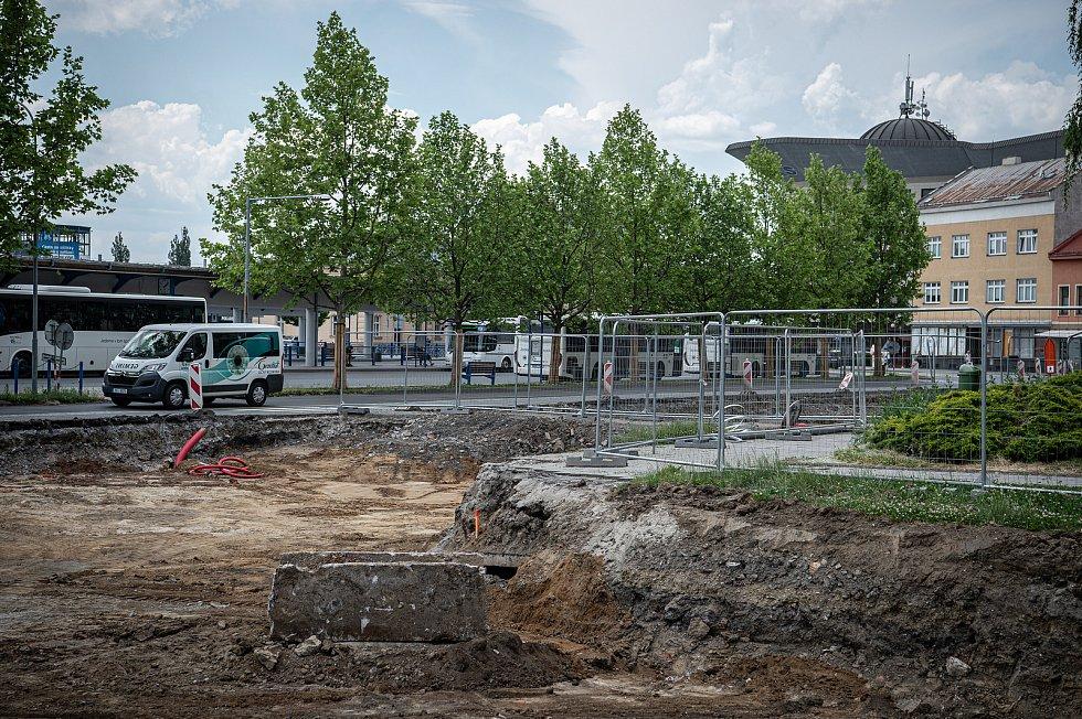 Stavební práce na průpichu Přerovem, 9. června 2021