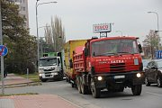 Hustá doprava v Přerově. Ilustrační foto